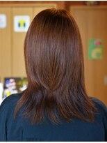 ラディアルカラー(明るい白髪染め)50代女性