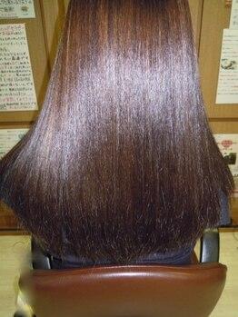 トータルビューティーサロンカワニシの写真/新カラー剤《ムーランエムーラン》取扱開始!ダメージを抑えながらしっかり染まり、艶感溢れる美しい髪色へ-