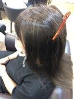 キャラ 池袋本店(CHARA)白髪ぼかしハイライト×髪質改善【白髪ぼかしハイライト】