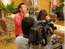 縮毛矯正専門店 アンジュ(ange)の雰囲気(テレビ取材の様子。縮毛矯正専門神戸、大阪、京都、遠方から人気)