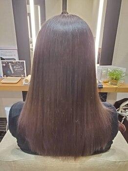 ヘアアンドメイク スタジオ えにし(Hair&Make Studio)の写真/話題の新メニュー【コレストンカラー】導入!髪のダメージに配慮しながら、健やかで美しい仕上がりに♪
