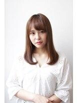 シアン ヘア デザイン(cyan hair design)【cyan】ナチュラル内巻きセミディ