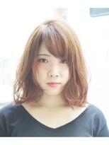 エトネ ヘアーサロン 仙台駅前(eTONe hair salon)【eTONe】切りっぱなしミディアムウェーブ