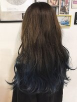 ルーナ ヘアラウンジ(Luuna hair lounge)ネイビーグラデーション