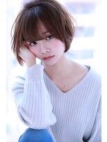 大人キレイ アッシュ小顔ショートボブ【Cirrus by Cloud zero】