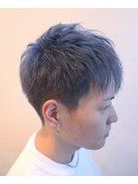 ヘアーグルーミング アイム(Hair &Grooming aim)【メンズカット】刈り上げショート&ブルーカラー