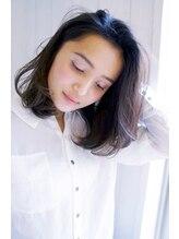 セレナ ヘアアンドネイル(CELENA hair&nail)大人可愛い透け感エアリーミディシアーグレージュ【根本将平】