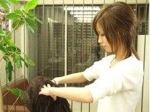 ヘアー ショップ ピエガ(hair shop piega)の雰囲気(お疲れの時にはヘッドマッサージで健やかになって下さいね!)