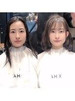 シェルハ(XELHA)仲道のIGTVリアルお客様【before→after】暗髪ミディアムボブ