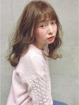 ラパンセジョーヌ(LA PENSEE JAUNE)【LA PENSEE】シースルーバング × honey beige × medium