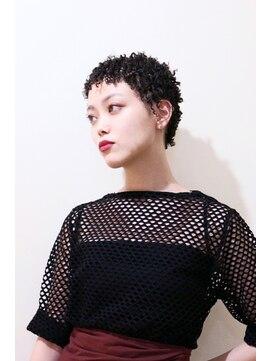 short afro ショートアフロ l005876176 美容室 ゴーゴー go go のヘア