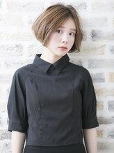 ソーエン 姪浜 福岡9号店(soen)ハイライト×くせ毛風ボブ
