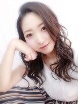 クロップ店長SHO☆大人かわいいラベンダーベージュゆる巻き