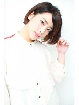 ミンクス シモキタザワ(MINX shimokitazawa)【MINX】大人のためのおしゃれショートボブ×アクセントカラー