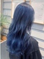 【AUBE HAIR】韓国風カラー_ネイビー