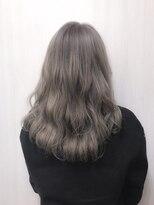 アールプラスヘアサロン(ar+ hair salon)ゆるふわ波ウェーブ×美髪3Dカラーラベンダーアッシュ