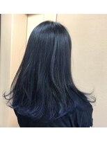 ヘアー コパイン(HAIR COPAIN)[熊本/中央区/上通り/並木坂] すそカラーネイビー☆