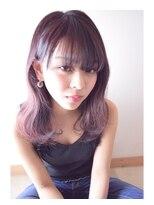 ヨロー ヘアー ルーム(Y.O.L.O hair room)ピンクパープルのカラー☆
