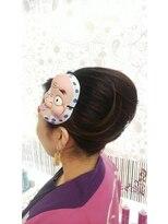 ヘアーアンドメイクサロン ハナココ(hair&make salon hana Coco)お祭りアップ 神輿スタイル!ひょっとこ飾り 夏イベント 水戸