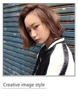 ヴェローグ シェ ブー(belog chez vous hair luxe)【Creative image styel】立ち上げ前髪のルーズなウェットボブ