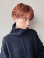 アルバム シブヤ(ALBUM SHIBUYA)オレンジマッシュショート_ボブルフクールショート_86908
