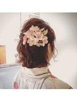ヘアーアンドメイク ポッシュ 日暮里店(HAIR&MAKE POSH)夏のイベントに☆ゆるかわボブアレンジ