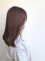 ヘアメイク オブジェ(hair make objet)チェリーピンク ミディー