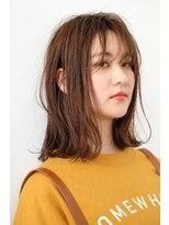 シアン ヘア デザイン(cyan hair design)【cyan】切りっぱなし無造作ロブ