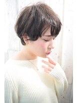 【morio池袋】くせっ毛を活かした耳かけ黒髪ショート