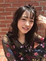 マユリ 相模大野(Mayuri)黒髪セミロングウェーブ
