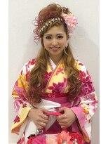 ヘアーアンドメイクサロン ハナココ(hair&make salon hana Coco)カールハーフアップ前髪編み込み 袴 卒業式
