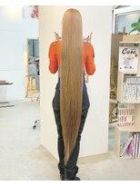 ◎ ストレートヘア髪質改善トリートメントホワイトアッシュ黒髪