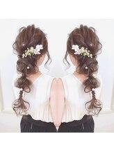マカナフォーヘアー(MAKANA for hair)結婚式にぴったり ルーズアレンジ
