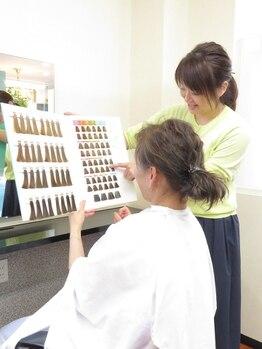 美容室 隆 りゅう 中央店の写真/クセ・悩みに合わせたオーダーメイド調合◎知識豊富な隆ならではの縮毛で大人女性の美しさ引き立つ艶美髪へ