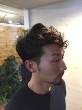 ヘアメイク オブジェ(hair make objet)くせ毛風パーマ 外国人風シルエット