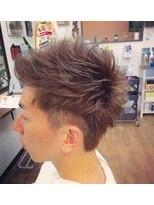 ヘアーサロン テイル リバー(Hair Salon Tail River)アップバングとスパイキーな束感で作るワイルド2ブロック☆