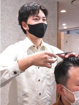 キタセンジュバーバー バイ ティーズ(KITASENJU BARBER by T's)の写真/お手頃価格なのにマンツーマンの丁寧な施術が魅力◎カッコいい大人男性の髪型は男性専用サロンで手に入る!