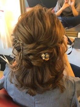 スタジオ ジョイ STUDIO Joy 下垂木店の写真/結婚式・成人式・お祭りなどのヘアセットはお任せを!手早く崩れにくい仕上がりで一日中思いきリ楽しめる♪