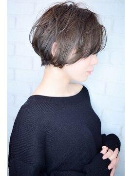 ラウンジ モリオ イケブクロ(Lounge MORIO Ikebukuro)【morio池袋】大人かわいいヘルシーレイヤー黒髪ショートボブ#