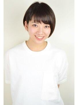 """ヘアデザイン エソラ(hair design esora)""""ツヤ髪""""カジュアルショートボブ"""