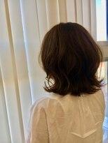 【EIGHT沖縄】お客様スタイル_デザインカラー_切りっぱなしボブ
