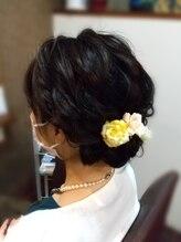 ヘアリゾート アンド スウェル(Hair Resort &SWELL)ボリューム控えめ。ルーズアップ