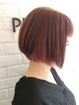 ヘアーメイク プラム(Hairmake PLUM)の写真/【デザインカラー】まるでトリートメント後のようなしっとり感は感動モノ♪艶やかな発色とダメージレスが◎