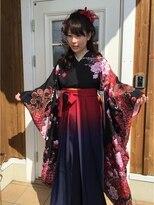 袴スタイルのサイドアップスタイル