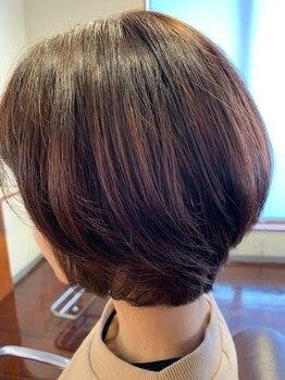 美容室 木の葉の写真/細かい調整で印象が変わる[前髪~顔周り]にこだわり、髪質/骨格を見極めて施術してくれるから小顔効果UP◎