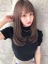 アフロート ルヴア 新宿(AFLOAT RUVUA)優しい美髪で清潔感満載ロングスタイル☆#ネイビーカラー