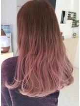 ヘアメイク ノワール(hair make noir)ピンク×グラデーションカラー