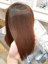 8 輝かしい髪への仕上り