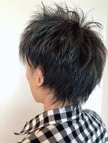 ヘアーエスクールステラ(hair S.COEUR stella)ブルーアッシュ×ハイライトカラー