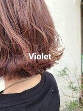 イデー ヘアサロン(idee Hair Salon)デザインカラー バイオレッド外ハネスタイル 《idee KOIKE》